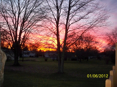 sunset from our back deck
