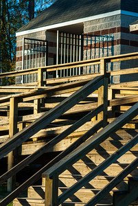Stairs and ramps make the pavilion at Herman Little Park accessible to all.