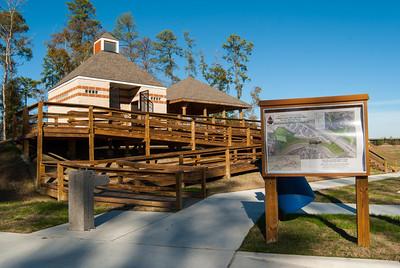 Herman Little Park opened in July 2012.