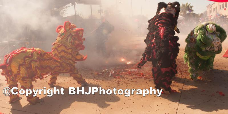 Shaolin Kung Fu Academy Lion Dance & Firecrackers!.