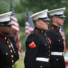 The grandfather of Christina Hughes-Babb, a U.S. Marine, is laid to rest at the Dallas Fort Worth National Cemetery Thursday, May 9, 2013 in Dallas.