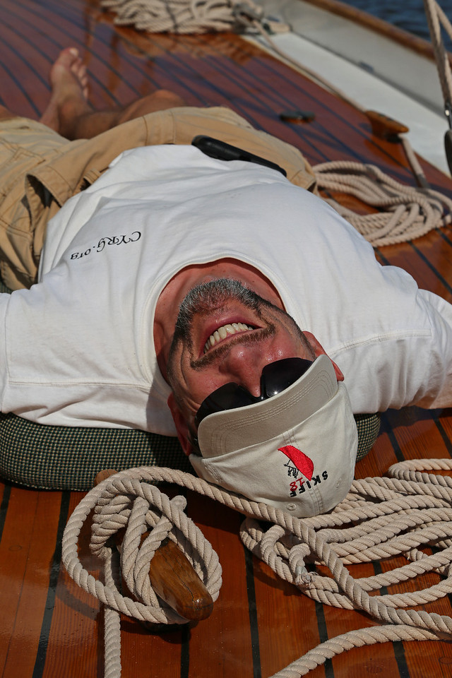 Elf Board Meeting sail, Sassafras River, 2013-06-22