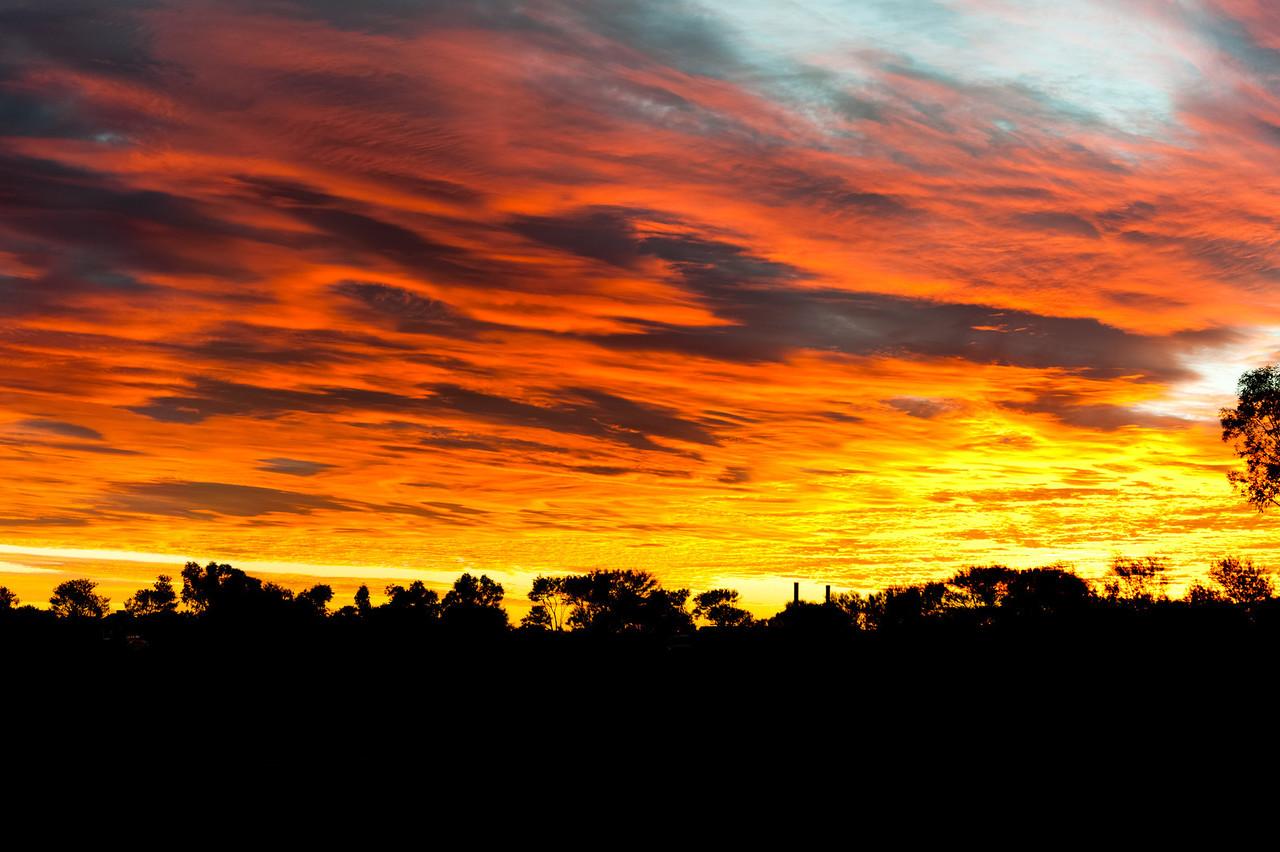 Sunrise at the Murchison Settlement