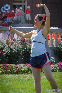 Marching Illini Feature Twirler Amelia Mugavero