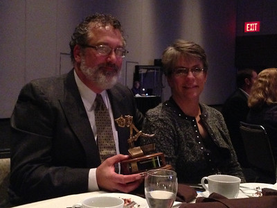 Daved and Donna Driscoll with the 2013 Ardee Award for Excellence in Arts Education.
