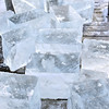 This year, 136 ice blocks were cut, pulled from the lake, and placed along the walkway of Bayview Event Center.