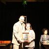 Cindy Jordan receives an Excellence in Programming Award on behalf of Vista Cove Care Center at Santa Paula.