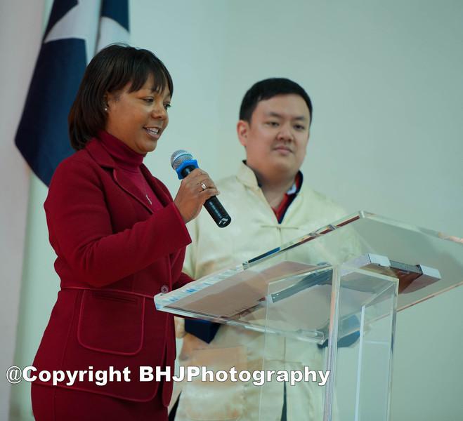 U.S Post Office (Houston) top representative makes a presentation.
