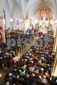 Bishop Malooly says the Stations of the Cross at St. Hedwig during the CYM Cross Pilgrimage through the streets of Wilmington stopping at five churches, Saturday, March 23, 2012. www.DonBlakePhotography.com