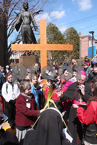 Bishop Malooly blesses palms at St. Francis Hospital during the CYM Cross Pilgrimage through the streets of Wilmington stopping at five churches, Saturday, March 23, 2012. www.DonBlakePhotography.com