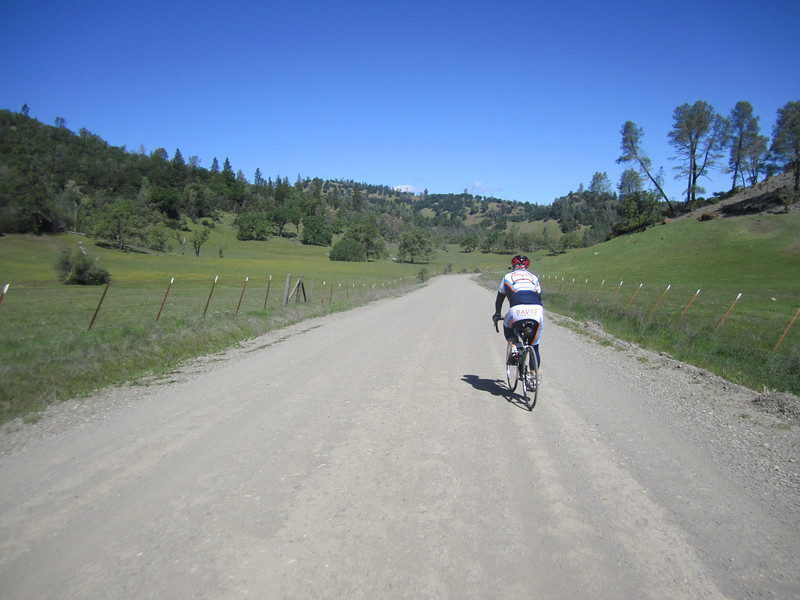 Escorting Roger Kohn on a Big Canyon reconnaissance ride in April