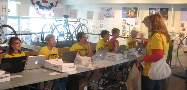 Check-in at the US Bicycling Hall of Fame.