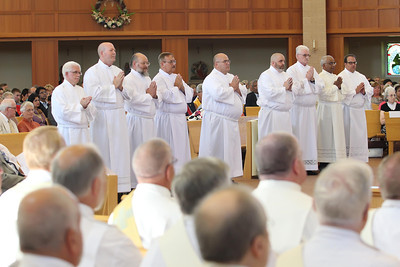 The candidates are presented to Bishop Malooly during their Ordination to the Diaconate at St. Margaret of Scotland Church, August 24, 2013. wwwDonBlakePhotography.com