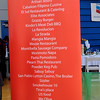 Banners on display in the VIP area listed special guests and vendors.
