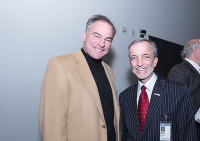 Sen. Tim Kaine and  Alex Nyerges