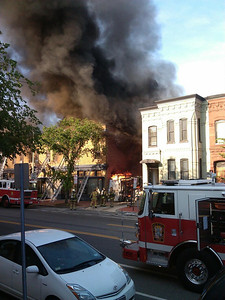 Fire at Frager's Hardware, Capitol Hill, Washington DC