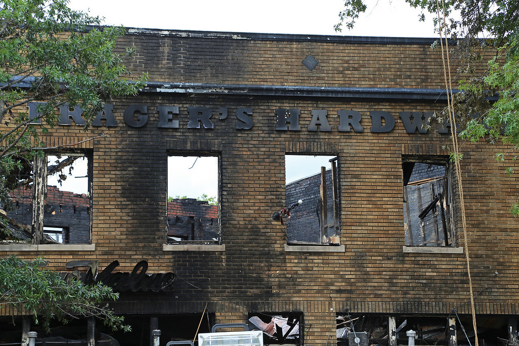 Frager's Hardware fire - the afternoon after, Capitol Hill, Washington, DC. June 6, 2013.