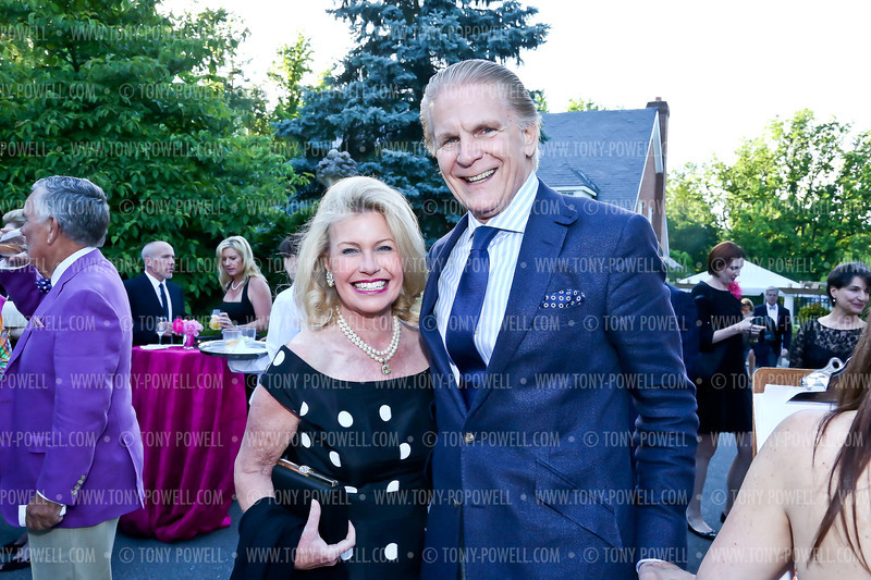 Michael and Charlotte Buxton. Photo by Tony Powell. 2013 Living Artfully Opening Gala. Hillwood. June 4, 2013