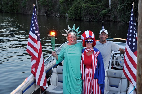 2013 Lighted Boat Parade in honor of  William E. Cedar, St. Clair, MI