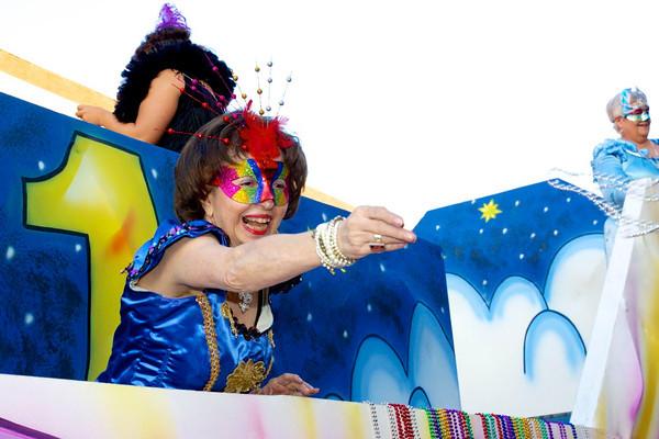 Palestine's 3rd Annual Mardi Gras Parade, sponsored by Mystics of Time Mardi Gras Krewe, was held on Saturday, Feb. 2 in downtown Palestine.