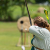 An arrow in flight during Archery at Meridies Kingdom A&S / Crown List