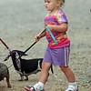 Miss Brooklyn walking the dog.