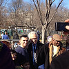 Wolfe Blitzer of CNN on the parade route the day before the 2013 inauguration.