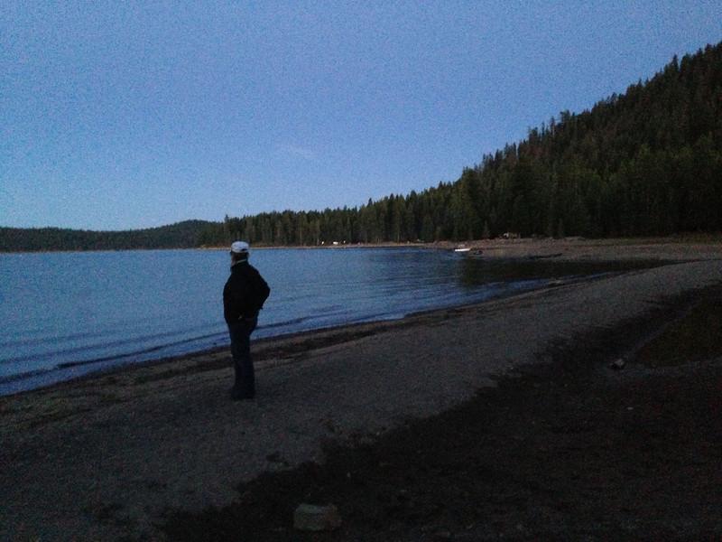 Dusk on the beach, Lake Almanor, CA