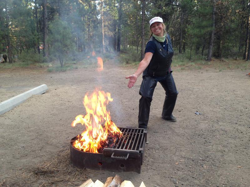 Firestarter Korene. At La Pine State Park, OR.
