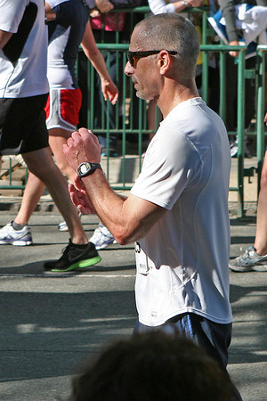Richmond VA Monument Ave 10K, April 12-13, 2013. Mark finishes.
