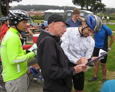 Signing in with Martin Meyer (Courtesy Darell Dickey)