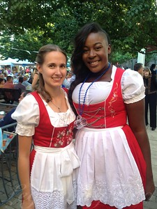 Ashlee and Nakato Working Oktoberfest 2013