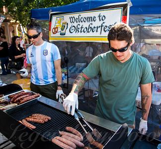 Gary BBQing at Oktoberfest 2013