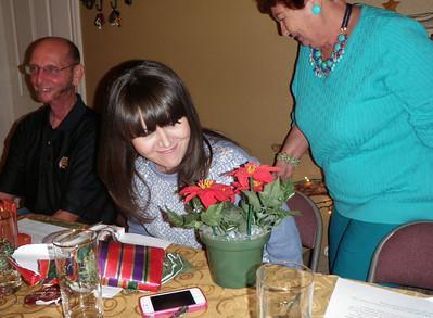 DaNelle gets a singing poinsettia plant