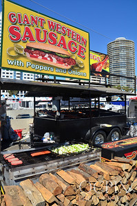 Giant Western Sausage stand at the 2013 Long Beach Grand Prix