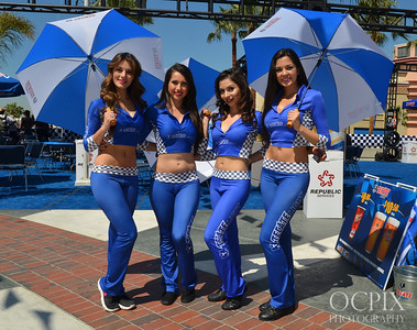 Group of Tecate Light Models at the Grand Prix of Long Beach 2013