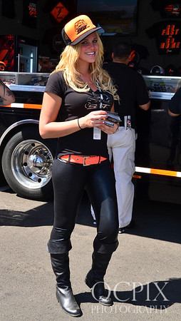 Stadium Super Trucks Promo Girl at the 2013 Toyota Grand Prix of Long Beach
