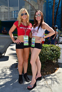 Hall-Ass promotional models at the 2013 Toyota Grand Prix of Long Beach
