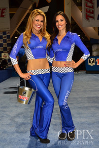 Tecate Light Models during the Lifestyle Expo at the Toyota Grand Prix of Long Beach in 2013.