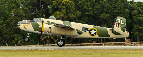 B25   Lt. Col Cole, Dolittle's copilot was flying in this plane.  He is 91.