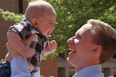 Uncle Ryan and Kasen.   Does it get any better than this? ♥