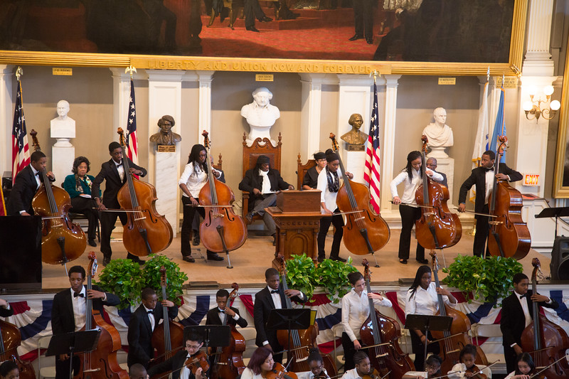 Bass Soloists from Intensive Community Program on MLK Jr Day 2013 at Faneuil Hall