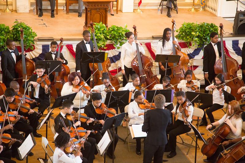 Intensive Community Program, Marta Zurad, Conductor at Faneuil Hall on MLK Jr Day 2013