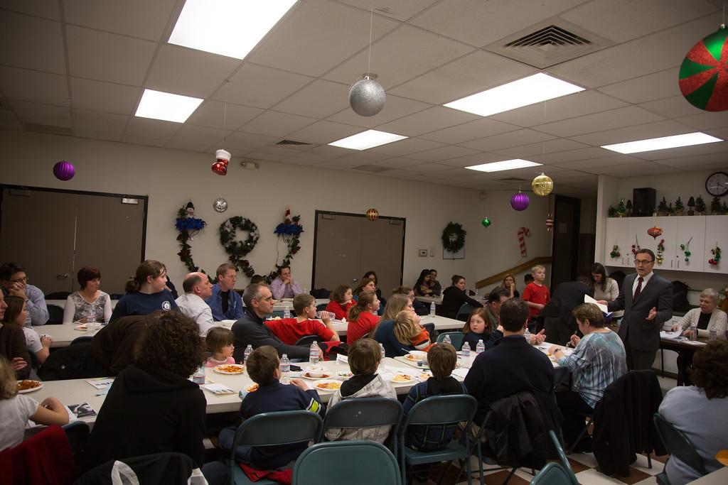City Councilor Sal LaMattina speaks at the NEAD dinner.