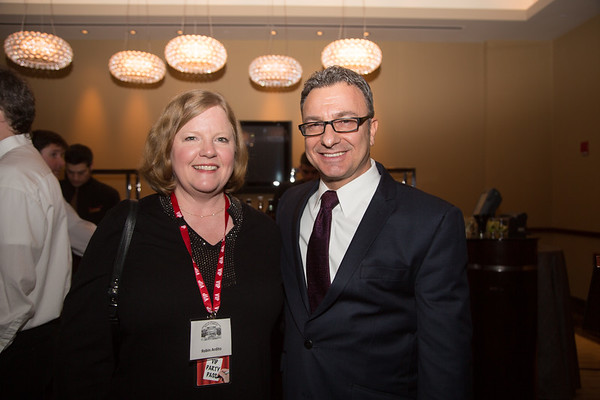 Friends President Robin Ardito with City Councilor Sal LaMattina