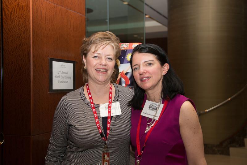 Fundraiser organizers, Paula Luccio and Jane Gorham Connolly