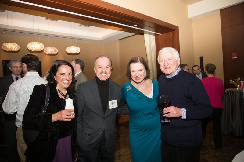 From the left, Pasqua Scibelli, Jim Salini, Michele Brogan and Victor Brogna