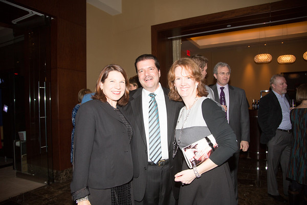 At the North End Library fundraiser, Robin Reed, Dan Nuzzo and Meghan Denenberg