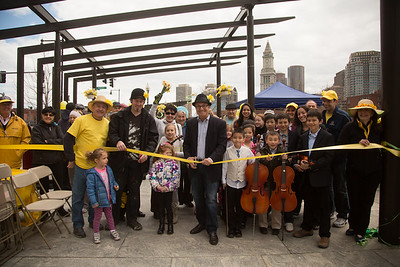 Ribbon Cutting with Councilor Sal LaMattina at 1st Annual Daffodil Day on the North End Parks - 2013-04-14 at 12-52-40