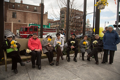 Enjoying Daffodil Day while sitting on the Greenway - 2013-04-14 at 12-26-56